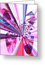 Rays Of Butterfly Greeting Card