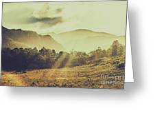 Rays Of Dusk Greeting Card