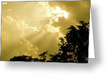 Rays Of Glory Greeting Card
