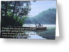 Rays Of Light - Place To Ponder Greeting Card