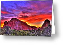 Rays Of The Gods Greeting Card