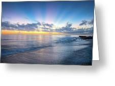 Rays Over The Reef Greeting Card