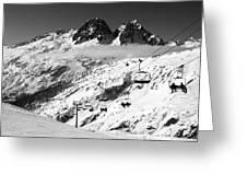 Reach The Sky Chamonix France Greeting Card