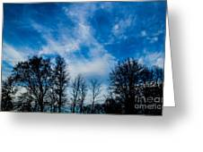 Reaching For Blue Greeting Card