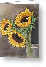 Reaching Sunflowers Greeting Card