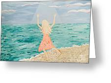 Reaching Up To Heaven Greeting Card