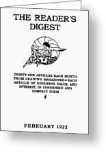 Readers Digest, 1922 Greeting Card