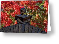 Reading Boy - Santa Fe Greeting Card