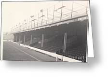 Reading - Elm Park - Norfolk Road Stand 1 - Bw - 1968 Greeting Card