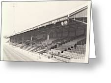 Reading - Elm Park - Norfolk Road Stand 2 - Bw - 1970 Greeting Card