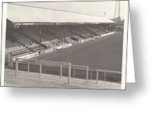 Reading - Elm Park - Norfolk Road Stand 3 - Bw - 1970 Greeting Card