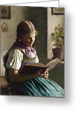 Reading Girl Greeting Card