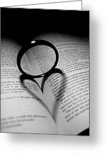 Reading My Heart Greeting Card