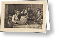 Reading The Will Greeting Card