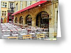Ready For Lunch In Lyon Greeting Card