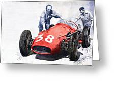 Ready For Racing Maserati 250 F Greeting Card