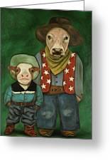 Real Cowboys 3 Greeting Card