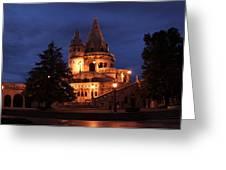 Real Life Minas Tirith Budapest Greeting Card