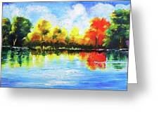 Realm Of Serene- Original Painting Greeting Card