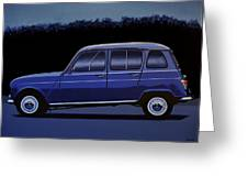 Renault 4 1961 Painting Greeting Card