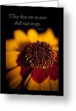 Reap In Joy Greeting Card