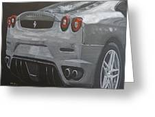 Rear Ferrari F430 Greeting Card