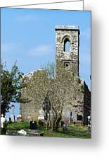 Rear View Fuerty Church And Cemetery Roscommon Ireland Greeting Card