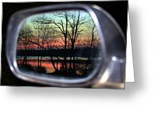 Rearview Mirror Greeting Card
