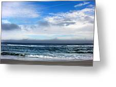 Receding Fog Seascape Greeting Card