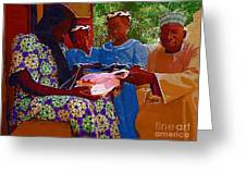 Receiving Gifts Greeting Card