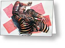 Reclined Striped And Symbolic  Greeting Card
