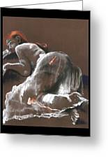 Reclining Figure With Skirt Greeting Card
