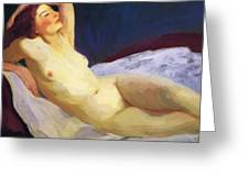 Reclining Nude Barbara Brown 1916 Greeting Card