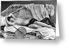 Reclining Nude, C1890 Greeting Card