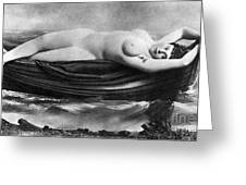 Reclining Nude, C1895 Greeting Card