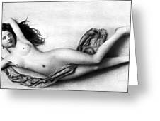 Reclining Nude, C1900 Greeting Card