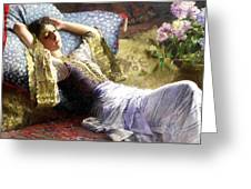 Reclining Odalisque Greeting Card