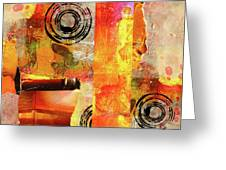 Reconstruction Abstract Greeting Card