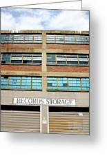 Records Storage- Nashville Photography By Linda Woods Greeting Card