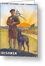 Recruitment Poster The Call To Arms Irishmen Dont You Hear It Greeting Card