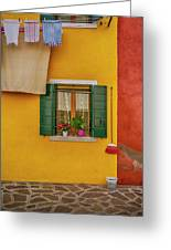 Rectangle Iterations Broom And Laundry Burano_dsc5134_03042017 Greeting Card