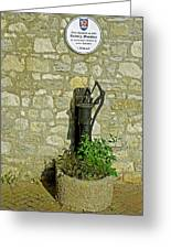 Rectory Mansion And Hand Pump - Brading Greeting Card