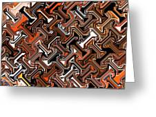 Recurring Pattern Abstract Greeting Card
