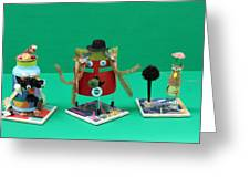 Recycled Characters Greeting Card