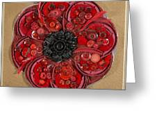 Recycled Poppy Greeting Card