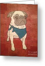 Recycled Pug Greeting Card