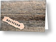 Recycled Wood Greeting Card