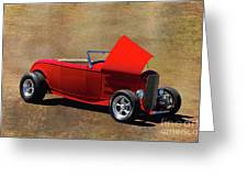 Red 1932 Ford Hot Rod  Greeting Card
