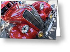 Red 1938 Plymouth Greeting Card