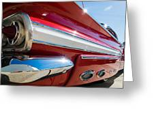Red 1960 Chevy Low Rider Greeting Card
